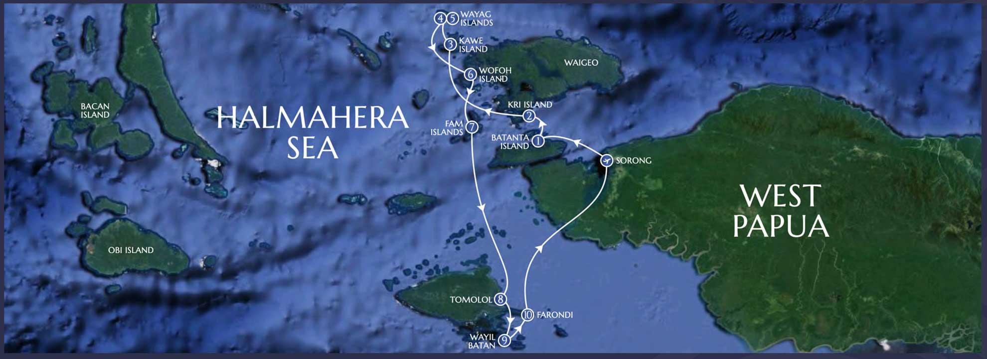 Lamima Itinerary - Greater Raja Ampat - 10 Nights