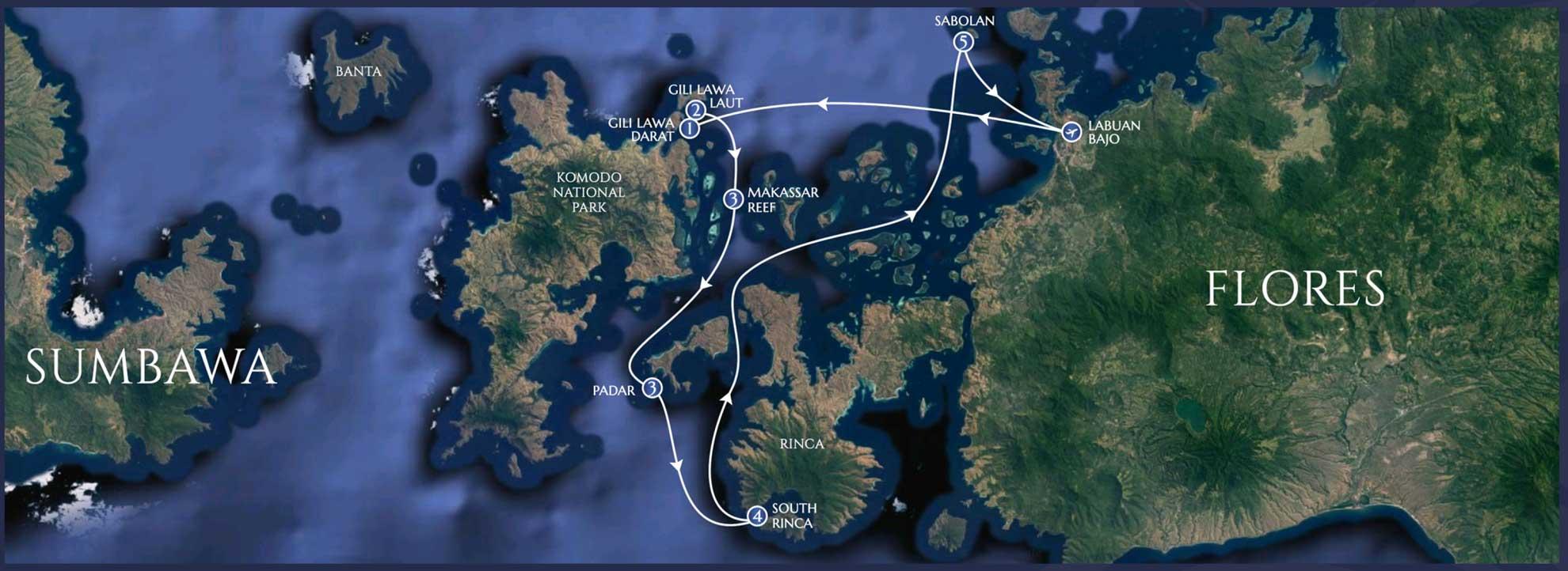 Lamima Itinerary - Komodo - 5 Nights